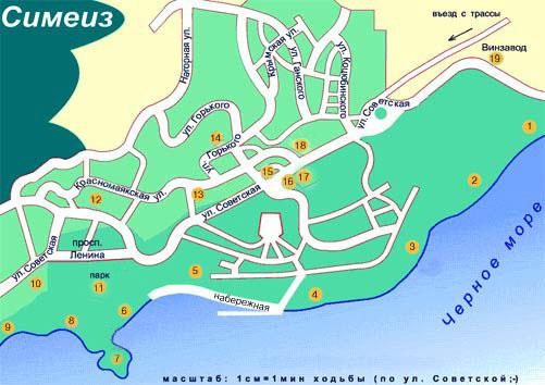 карта симеиза