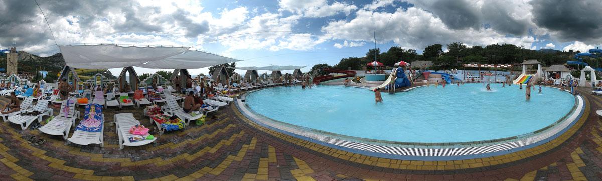 360° панорама «Детские горки аквапарка»