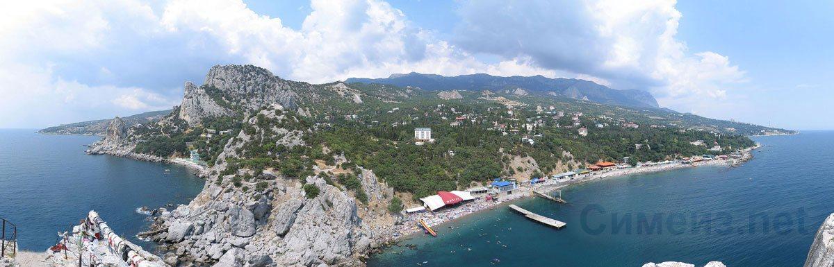 360° панорама Симеиза со скалы Дива